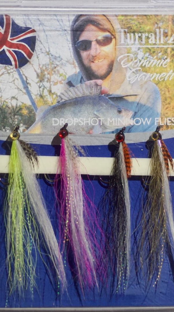 Drop shot minnow flies for perch