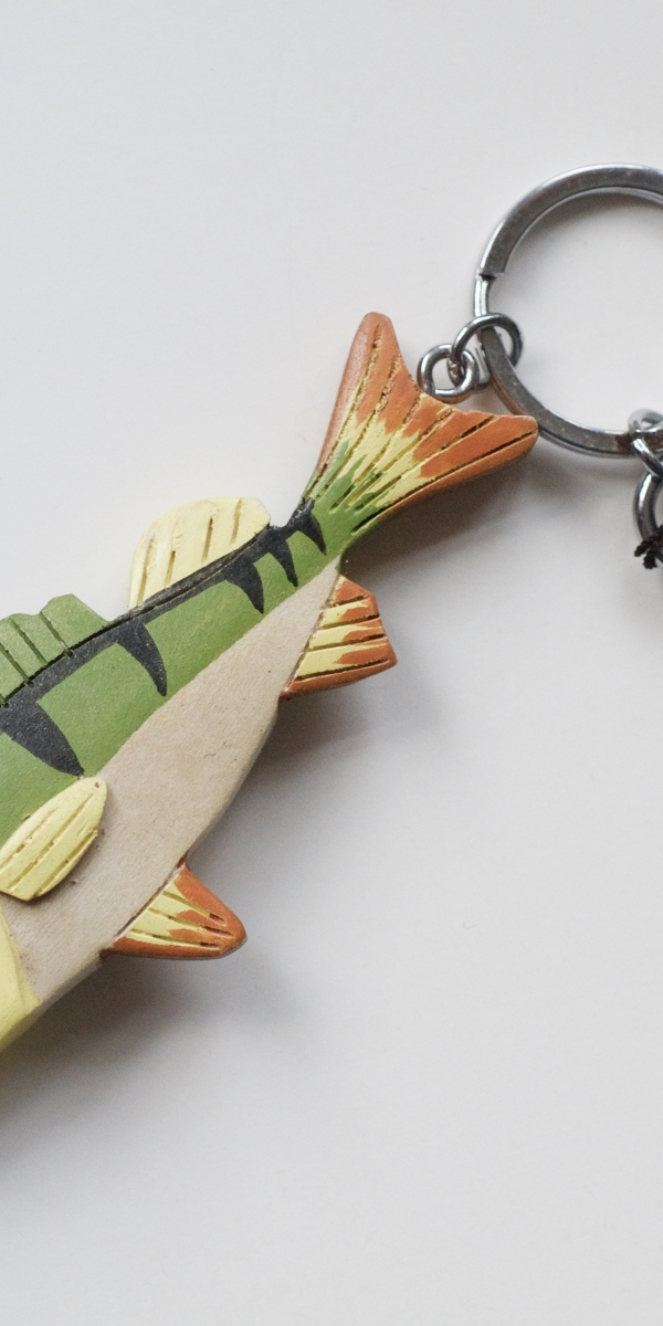Perch fish key ring fishing gift