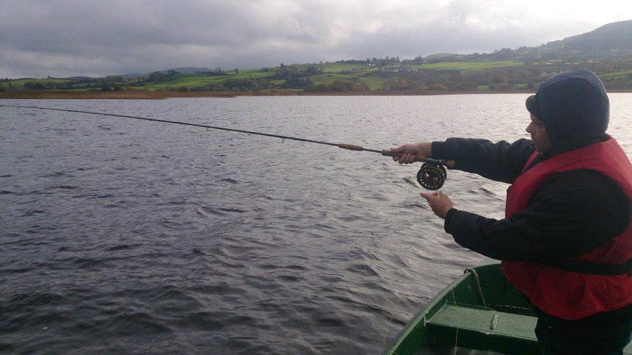 Aidan Curran fly fishing Ireland