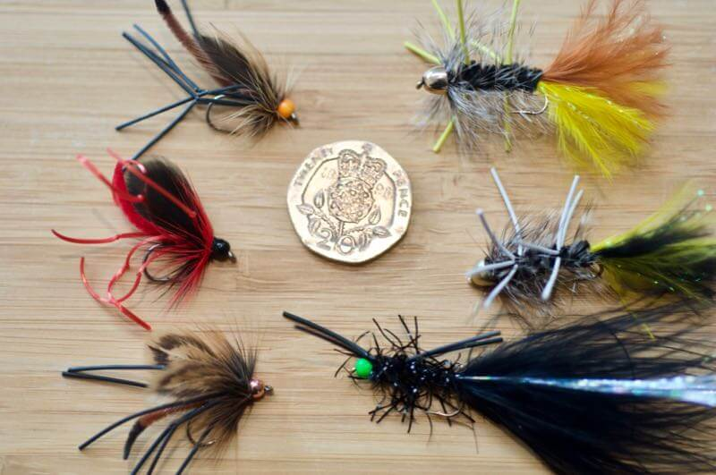 Flies for muddy coloured water