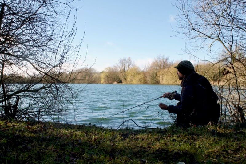 Gravel pit pike fishing cotswolds