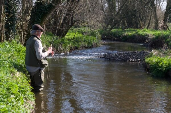 guided river fly fishing Devon river culm