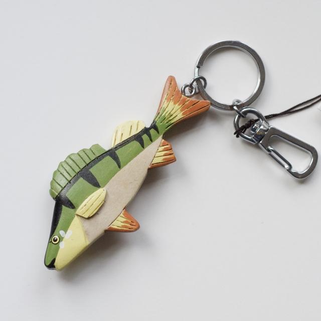 Perch fish key ring fishing gift