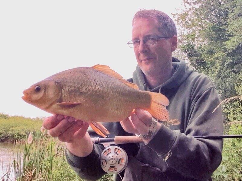 flyfishing for coarse fish crucian carp