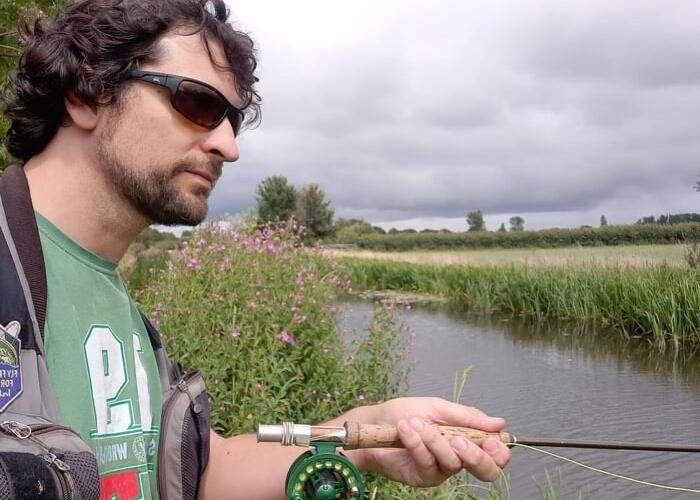 Dom Garnett canal fly fishing for roach