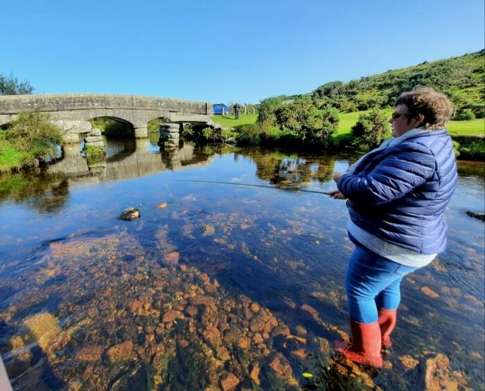 Dartmoor fly fishing lessons