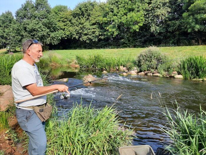 River Tone fishing somerset chub