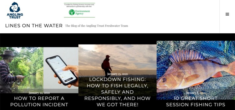 Lines on the Water angling trust fishing blog dom garnett