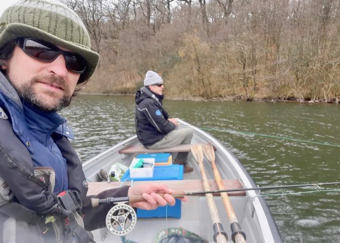 Charles Fishwish Halliday and Dom Garnett fishing