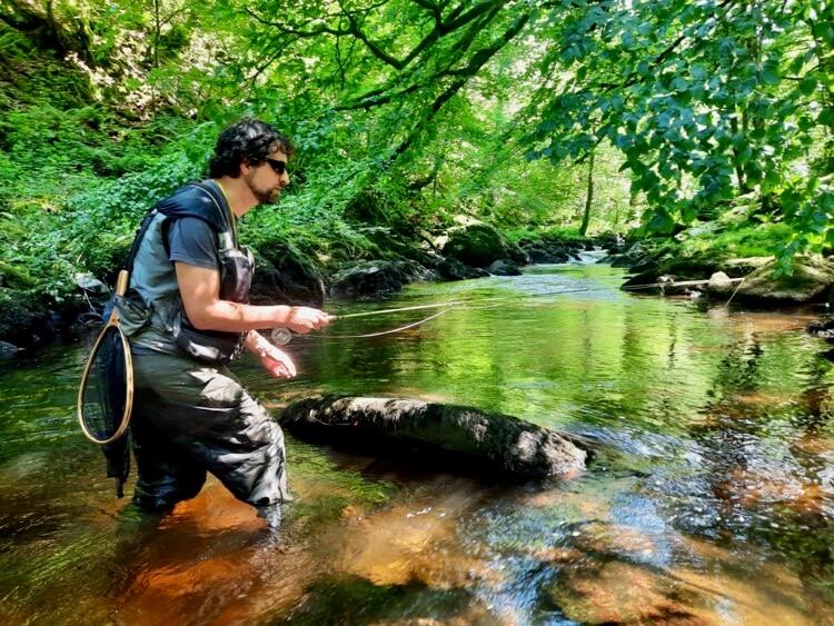 Dom Garnett guided fly fishing North Devon River Lyn